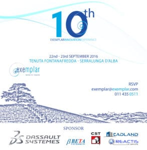 Read more about the article Join us at the EXEMPLAR INNOVATION EXPERIENCE 22nd – 23rd September 2016
