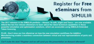 Read more about the article 2017 releases in the SIMULIA portfolio – Abaqus, fe-safe, Isight and Tosca – are now available