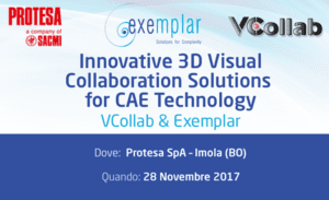 Read more about the article Innovative 3D Visual Collaboration Solutions for CAE Technology, 28th November 2017, Imola (BO), Italy
