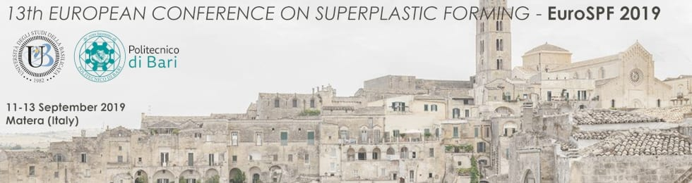 Exemplar is sponsor of the 13th European Conference on Superplastic Forming, 11-13 Sept 2019, Matera (Italy)